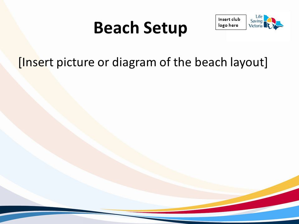Beach Setup [Insert picture or diagram of the beach layout]
